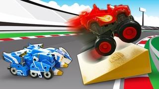 Blaze aposta uma corrida! História infantil com carros de corrida Blaze and the Monster Machines