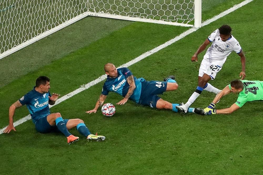 Зенит - Брюгге, 1:2. Лига чемпионов