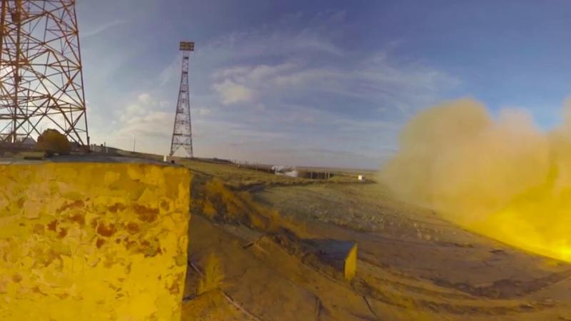 Вывоз и запуск корабля Прогресс МС-13. 360, 4k.
