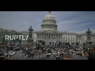 LIVE: 'No Justice, No Peace' anti-police brutality sit-in protest takes place in Washington, DC