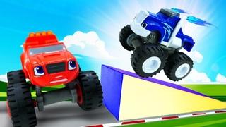 Crusher, o carro de corrida supersônico! Blaze and the Monster Machines em português