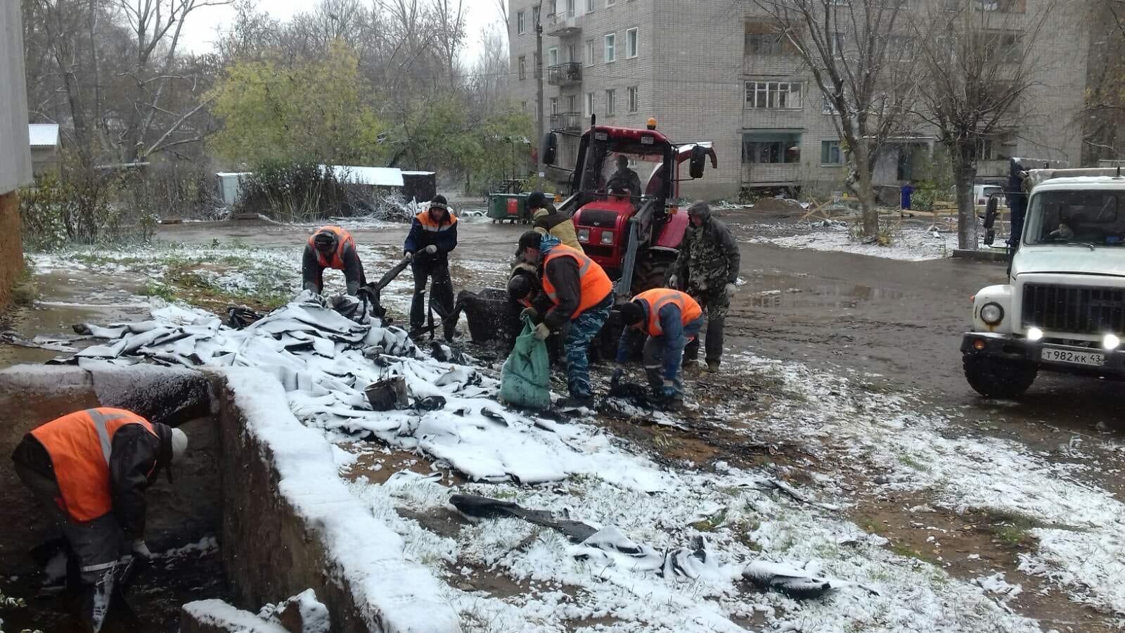 Пер. Гирсовский, 33. Вывоз строительного мусора.