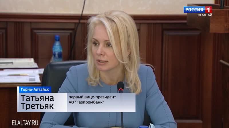 Олег Хорохордин провел встречу с вице президентом Газпромбанка Натальей Третьяк