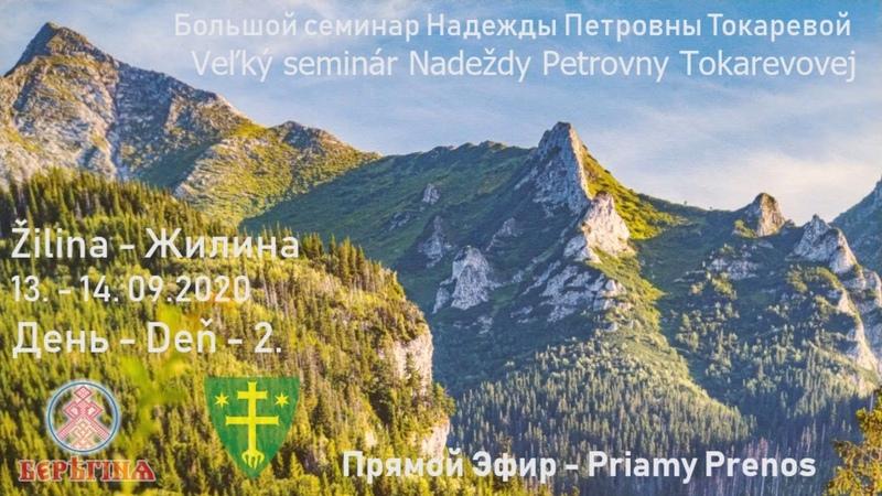Надежда Токарева 13 14 09 2020 Д 2 Большой семинар Жилина Словакия Прямой Эфир