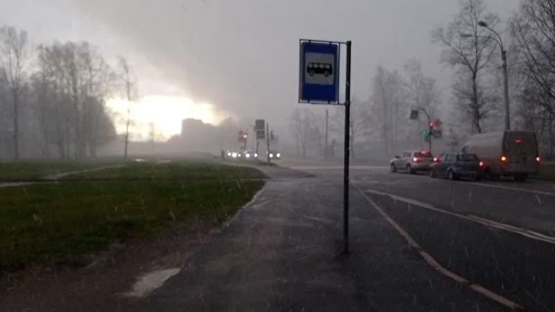 снежный вихрь на улице Бутлерова.mp4