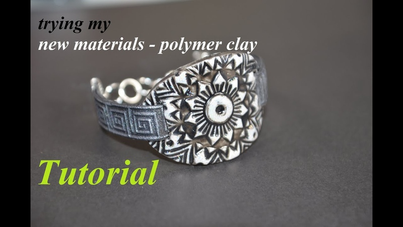 Experiment with new materials bracelet from FIMO Liquid gel and FIMO leather polymer clay tutorial