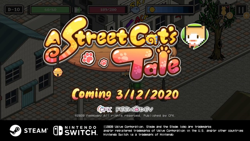 Nintendo Switch Steam 「A Street Cat's Tale」 Launch Trailer