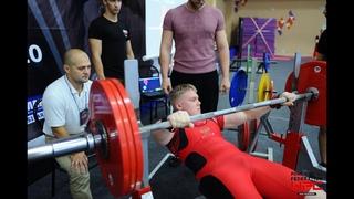 Жим лежа 182,5 кг в 15 лет, Сергей Салосалов. Мировой рекорд AWPA среди юношей 13-15 лет, в/к 90 кг