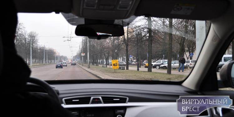 Планируемые места установки датчиков контроля скорости в Бресте