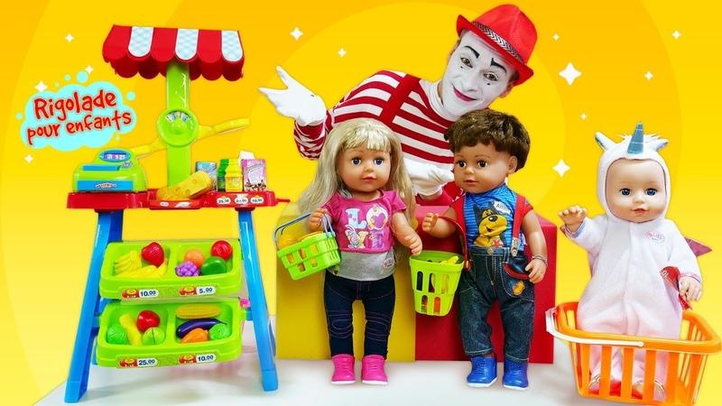 Zapf Baby Born Poupons pour enfants Vidéos amusantes avec le mime
