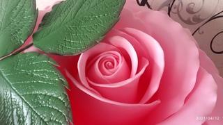 Торшер - светильник роза из изолона.  Часть 4 Листья и чашелистики