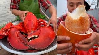 Fisherman Eat Giant Lobster Mukbang | Chinese Seafood Mukbang Show
