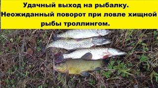 Удачный выход на рыбалку. Неожиданный поворот при ловле хищной рыбы троллингом. Тrolling fishing.
