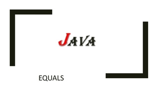 Java Object: сравнение объектов