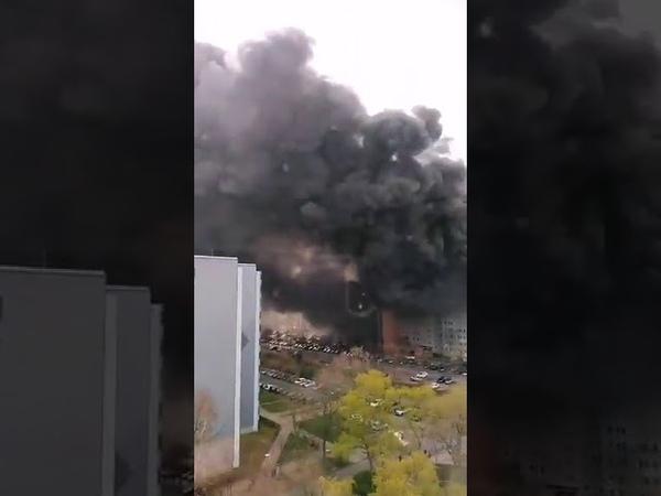 Масштабный пожар в Берлине пылают сразу несколько высоток