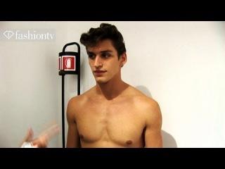 Versace Backstage ft Sebastian Sauve - Milan Men's Fashion Week Spring 2012   FashionTV -