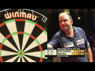Scott Waites vs Ross Montgomery (Winmau World Masters 2013 / Last 16)