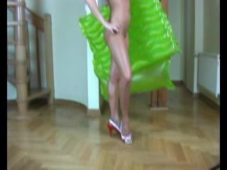 Shiny lycra helen bikini feet-21