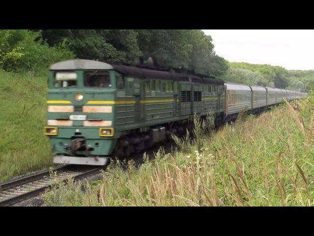 2ТЭ10У 0426 со скорым фирменным поездом Сура перегон Арбеково Пенза 1