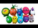 Сюрпризы из теста пластилина ПлэйДо открываем игрушки Surprises de jouets d'argile Playdoh