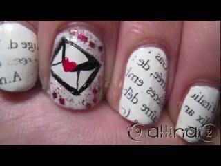 Nail Art TUTORIAL 55 • Love Letters