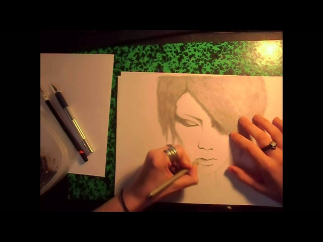 Speed drawing portrait ( Jyou, Exist Trace )