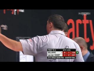 Mensur Suljović vs Vincent van der Voort (World Grand Prix 2015 / Quarter Final)