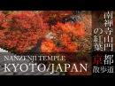 京都観光 南禅寺山門の紅葉(Autumn leaves of Nanzenji temple in Kyoto,Japan)BGMで日本旅行 / 京都散歩道