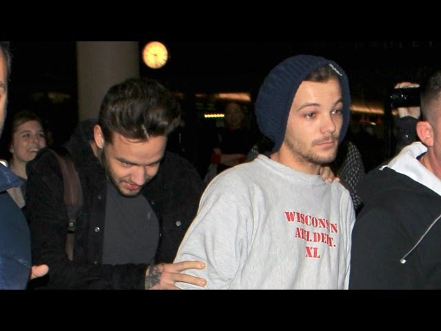 One Direction Louis Tomlinson Is Exhausted At LAX With Liam Payne (lilo paynlinson)