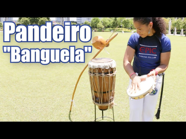 Capoeira Music Play Pandeiro with the rhythm Banguela