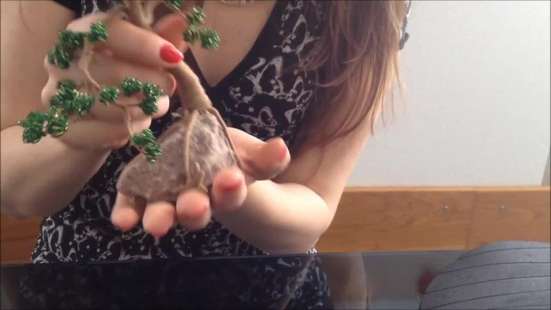 Bonsai aus Glasperlen Perlenbäume Bonsai out of beads Perlen