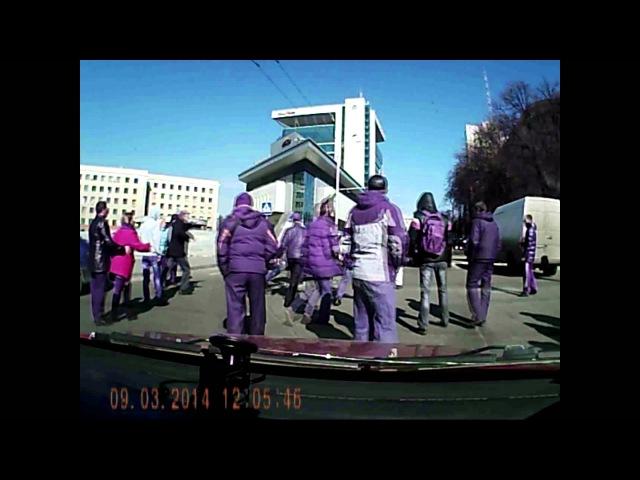 8 марта 2014 Харьков Нападение на Автомайдан 9 марта 2014