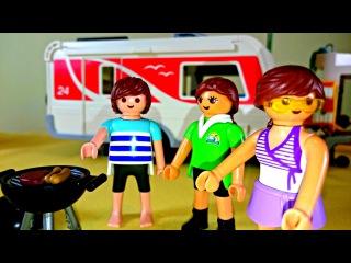 Видео для детей: Как весело летом в кемпинге. Конструктор Playmobil. Набор для сюжетно-ролевых игр