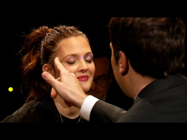 Rouge lette with Drew Barrymore Late Night with Jimmy Fallon