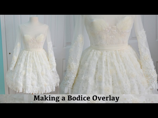 Making a Bodice Overlay The Fluffy Feathered Dress Part Three смотреть онлайн без регистрации