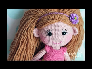 Крепление волос к голове куклы без узелков и пришивания.