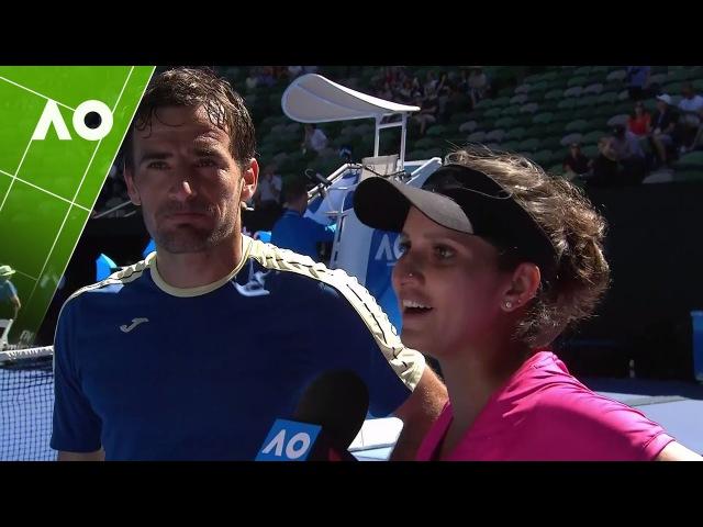 Sania Mirza/Ivan Dodig on court interview (SF)   Australian Open 2017