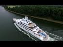 Megayacht Mistral im Nord-Ostsee-Kanal 02.07.2016