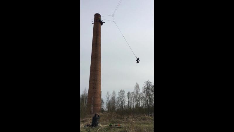 прыгаю с веревкой, 45 метров, титити стайло