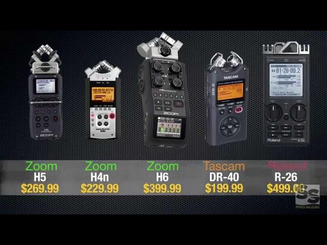 Handheld Recorder Review (Full): Zoom H6, H5, H4n, Tascam DR-40, Roland R-26