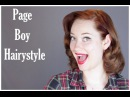 How to Page Boy Hairstyle The Rachel Dixon Vintage Tutorial Pinup