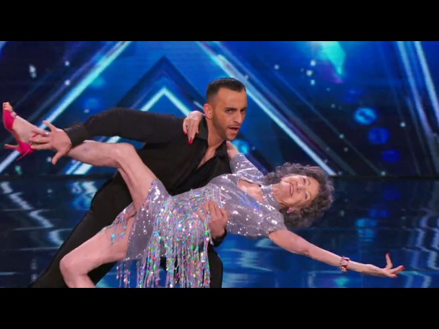Americas Got Talent 2015 S10E03 Tao Porchon Lynch and Vard 96 Year Old Dancer