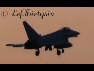 Eurofighter EF-2000 Typhoon touch & go at Brindisi Airport