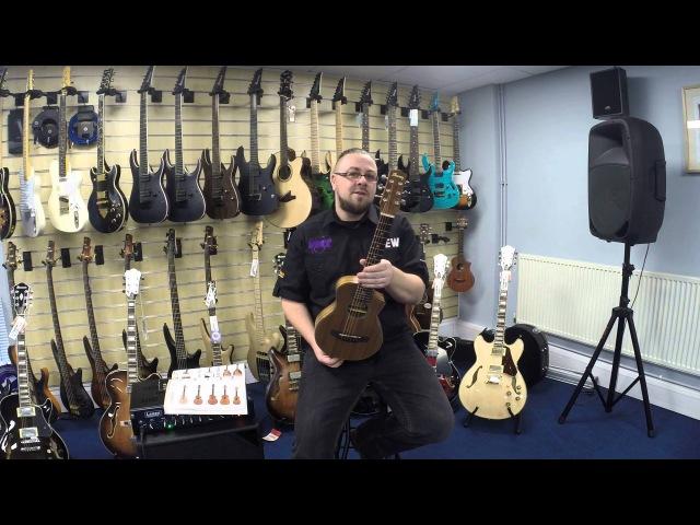 NAMM 2016 Ibanez EWP PICCOLO Acoustic Guitar- Demo