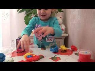 Лепим животных с шарикового пластилина и открываем сюрприз Кукла Хай