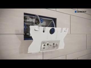 Установка клавиши для инсталляции Geberit Sigma70 & Hydraulic Servo Lifter