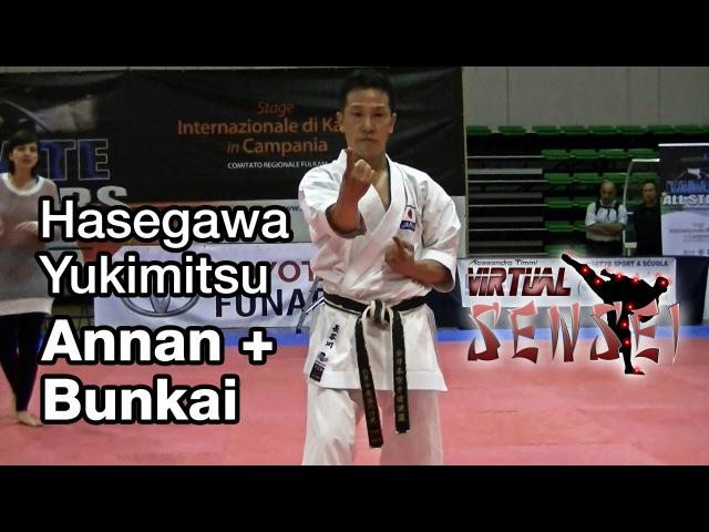 Hasegawa Yukimitsu teaching kata Annan (Ryuei ryu) bunkai - Karate All Stars 2013