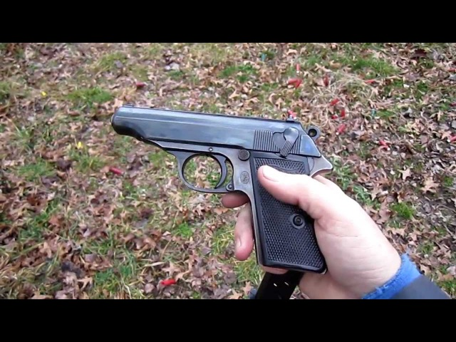Test firing a recently restored vintage Walther PP .32 cal pistol