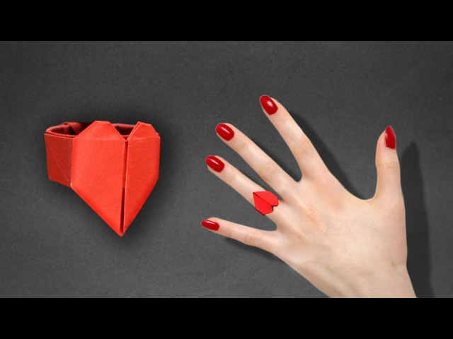 Origami: Heart Ring. - Instructions in English (BR)