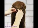 Необычное плетение на распущенные волосы
